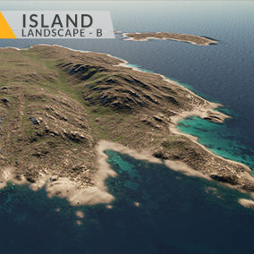 This content includes highly detailed 16 km2 (4x4 km) Island landscape.