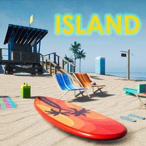 Check out our AAA Island Environment package filled with Palm tree, rock, Water, Jet ski, Inflatable boat,  Volleyball playground, and other Beach props and accessories.