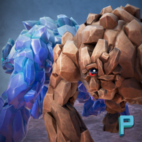 A massive Golem ready to be challenged!