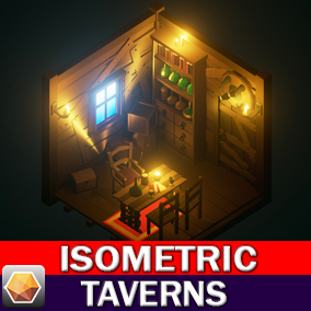 Isometric 3D Series Tavern Interior Asset Pack.
