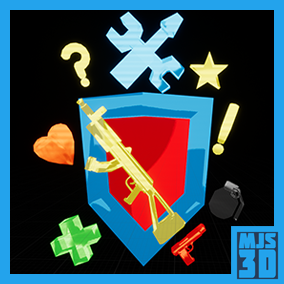 Item pick-up pack. Customizable and easy to use. Includes ammo, health, power ups, etc.