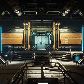A set of sci-fi modular elements for creating big playable interior/exterior levels.