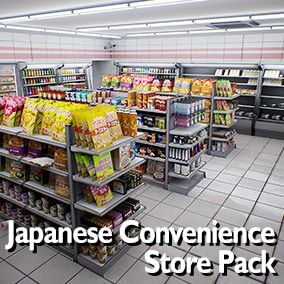 Huge amount of Japanese store products and shelves to create a realistic Japanese convenience store.