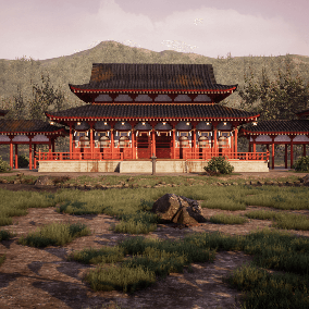 A modular architecture pack for Japanese temple and traditional building.