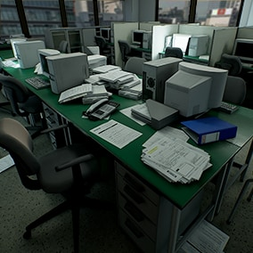 Over 100 models to create the office of your dreams (or nightmares)!
