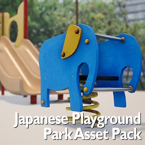 An asset pack to create realistic japanese parks