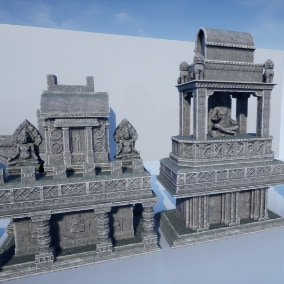 88 static meshes of jungle ruins props
