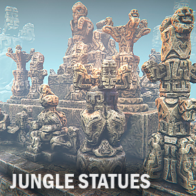 Here, you will find jungle style Asian statues. Constructor includes a lot of elements and few gathered examples.