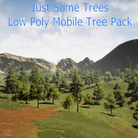 Tree pack with various low poly assets. All models are below 1k vertices. Wind is included
