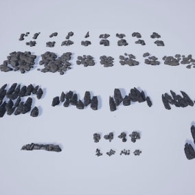 Rock Pack with stacked Rock Collections to cover large Surfaces