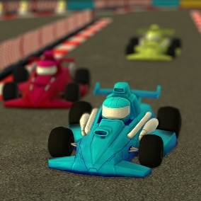 This bundle contains everything you need to create your own 3D Kart Racing Track environments