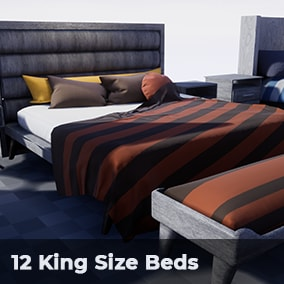 Pack of 12 King Size Beds