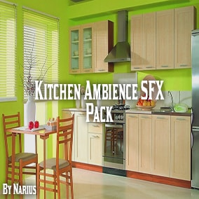 This pack contains over 100 high quality kitchen ambience sounds.