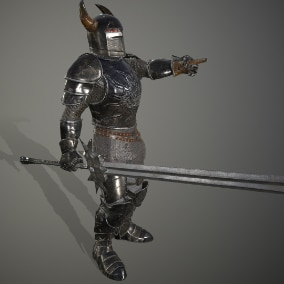 Knight with sword.