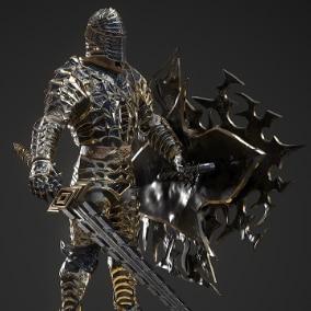 Knight model in fantasy style