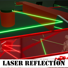 A very precise laser system with infinity reflection system