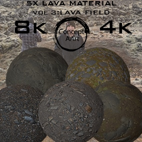 5 Super Realistic Lava  Materials for all platforms. All Textures have their own 8K,4K,2K and 1K version and ready for every kind of project.