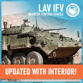 A fully multiplayer ready Infantry Fighting Vehicle with working hatches, weapons,effects and passenger interior.