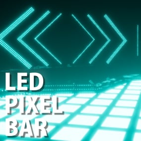 This asset is a simulation of LED Pixel Bar for Live stage or Club, and so on. Control with external DMX and internal DMX.