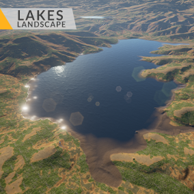 This content includes highly detailed 16 km2 (4x4 km) Lakes landscape.