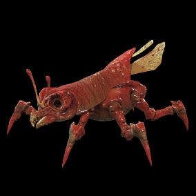 Low-poly model of the character Land Bug 6 Suitable for games of different genre: RPG, strategy, first-person shooter, etc.