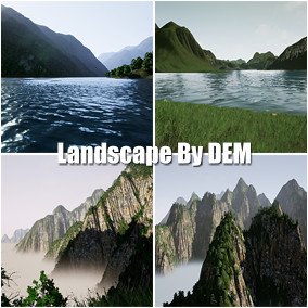 This is a group of landscapes of the famous scenic area created by satellite digital elevation model (DEM)