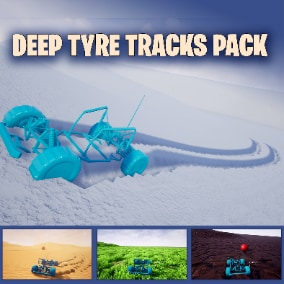 Grass ,Mud, Snow, Sand advanced environments deep tire trails