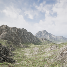 This material lets you create amazing looking landscapes quickly and easily with an easy to read and understand workflow.