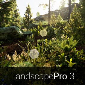 Creates a realistic landscape within minutes, including forests, cliffs and large grasslands