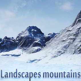 This package includes 15 low poly models of mountains and 3 demo scene, each model has texture colors and normal.  Custom shader with snow.   Texture resolution 4096x4096