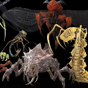 Low-poly model of the character Large_Pack_Insects Suitable for games of different genre: RPG, strategy, first-person shooter, etc.