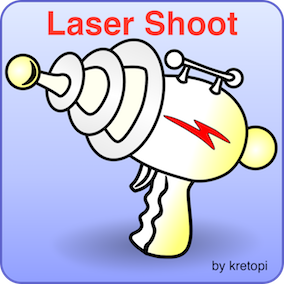 Sounds of shooting with a laser weapon.