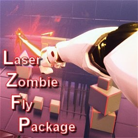 FPS full body player fires & launches laser cables to pull zombies skel or st.meshes and teleports over buildings or on flying/walking actors like dragons, monster, spaceships.