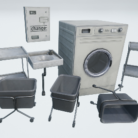 High Quality Collection of Laundromat Props to decorate your Interior Environments.