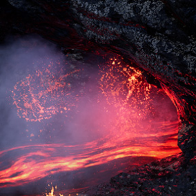Lava World Landscape is a 64 Square Kilometers landscape, taking you into the dark and burned lands.