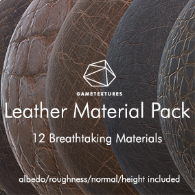 A pack of 12 Leather Materials built specifically for Unreal by the pros at GameTextures.