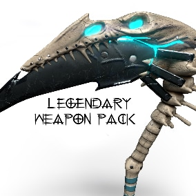 Legendary weapon and shield pack.