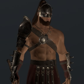 Game low poly 3D model Legionary