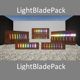 a pack of light blades ideal for any videogame