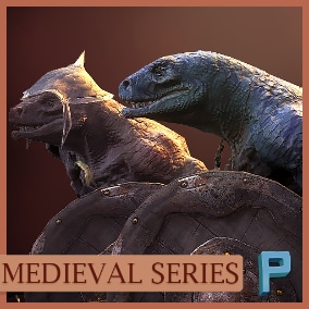 Horrible reptiles have arrived! Animated PBR character with optimized polygon count.