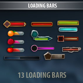 Loading Bars is a complete art set of UI components.