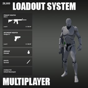 Customizable weapon system with unlock criteria (Support Multiplayer)