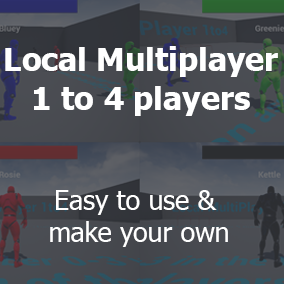 Simple, easy to use Local Multiplayer 1-4 Template