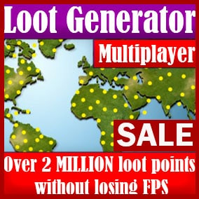 A powerful optimization algorithm is used - there is no difference between 100 items of loot or 100,000. Do you want over 2 million items and 120+ frames per second?