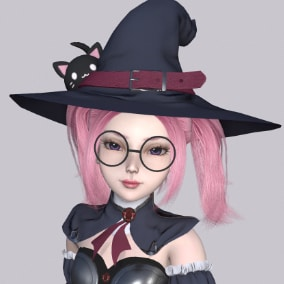 Cute little witch Louise.