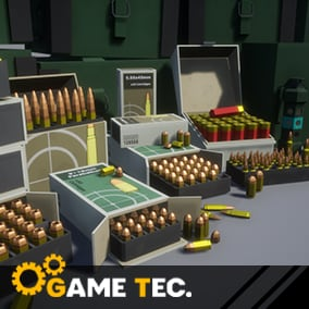 Customizable set of low poly cartridges and boxes for the most popular in-game weapons.
