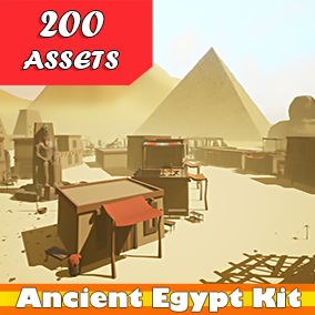 This package contains 200 + Low Poly Egyptian Props.