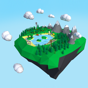 58 assets, Lightweight, Low Poly Style