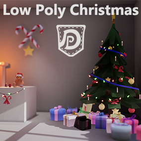 A small low poly set, containing 28 Christmas themed props. Ideal for VR and Mobile projects. Containing a Xmas tree, a teddy, presents, hot chocolate, ginger man bread, candy canes, chain of lights and a chimney.