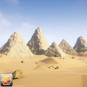 A high quality stylized assets to create your own Beautiful ''Low Poly Desert Egypt''environment!